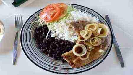 Typisches Essen in Costa rica