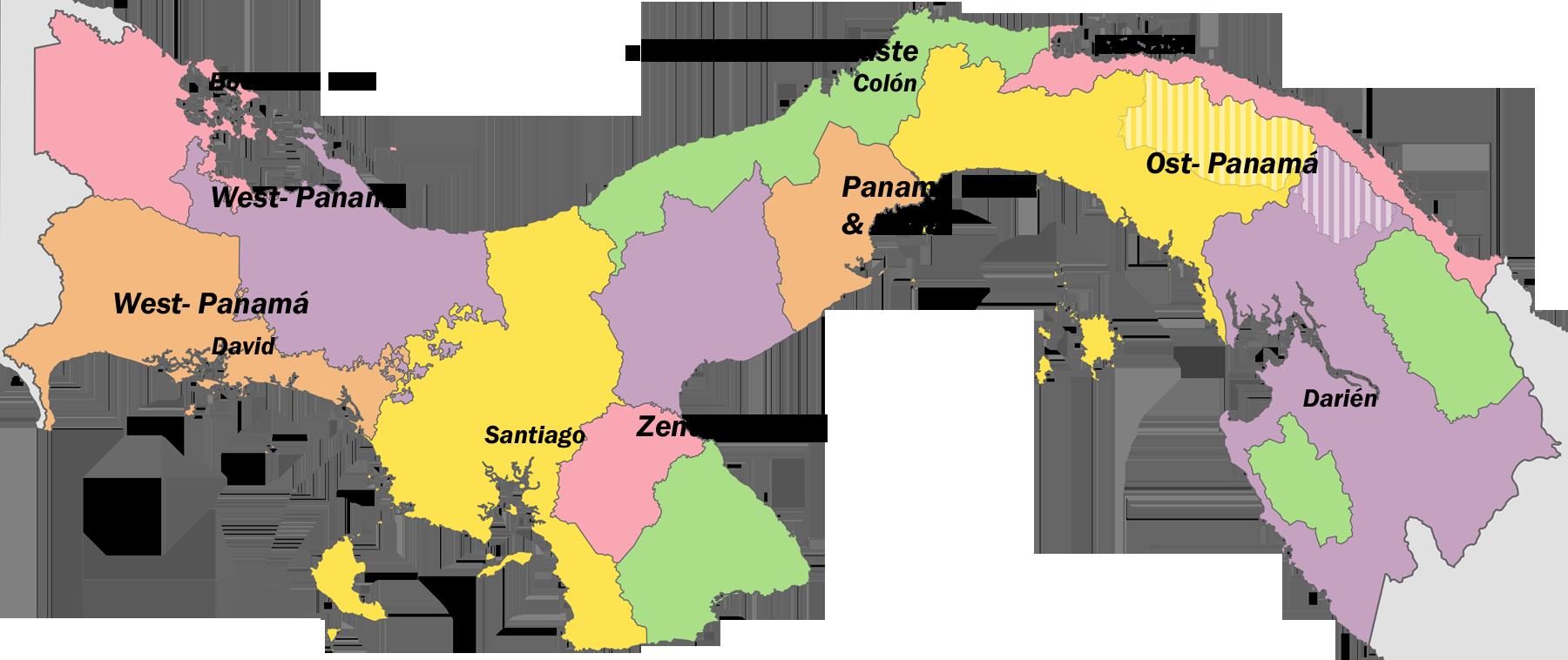 politische Karte von Panama