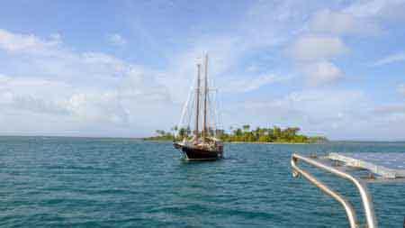 segelboot auf san blas